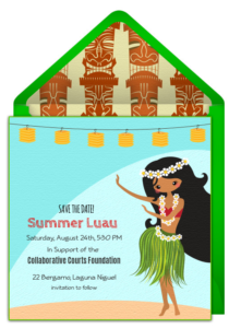 Luau Save the Date